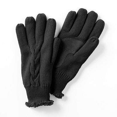 Totes Cable-Knit Gloves