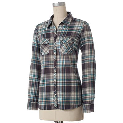 Croft and Barrow Plaid Flannel Shirt