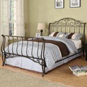 HomeVance Metal Queen Sleigh Bed