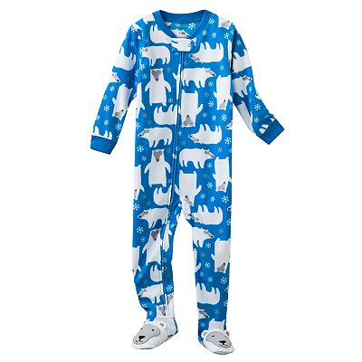 Carter's Polar Bear Microfleece Footed Pajamas - Baby