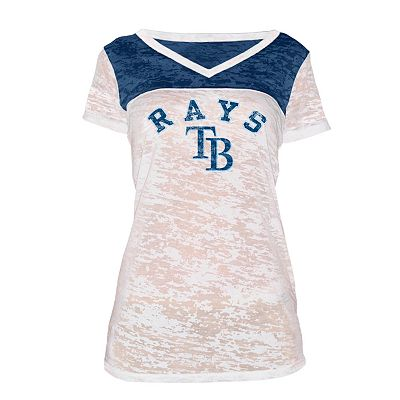 Tampa Bay Rays Colorblock Burnout Tee