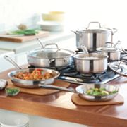 Food Network 10-pc. Tri-Ply Stainless Steel Cookware Set