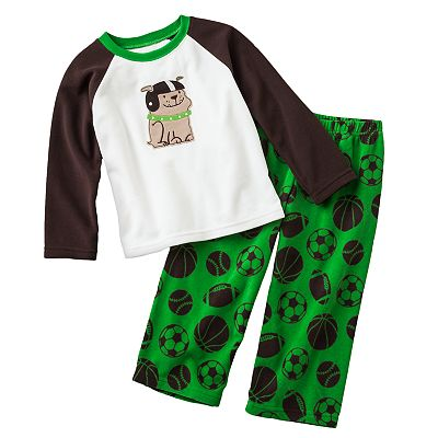 Carter's Sports Raglan Microfleece Pajama Set - Toddler