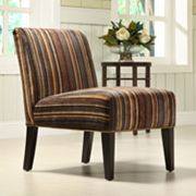 HomeVance Contemporary Dark Stripe Lounge Chair