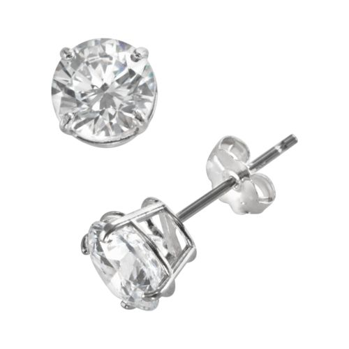 Renaissance Collection 10k White Gold 1 1/2-ct. T.W. Cubic Zirconia Stud Earrings - Made with Swarovski Zirconia