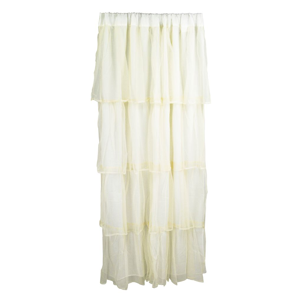 Tadpoles Tulle Tiered Curtain Panel