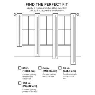 Tadpoles 1-Panel Tulle Tiered Window Curtain