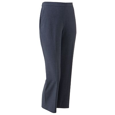 Sag Harbor Pull-On Straight-Leg Pants - Petite