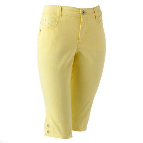Gloria Vanderbilt Madison Slimming Denim Skimmer Pants