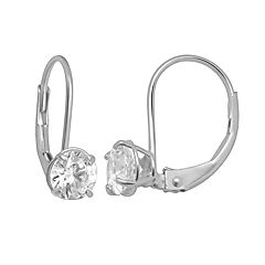 Renaissance Collection 10k White Gold 1-ct. T.W. Cubic Zirconia Drop Earrings - Made with Swarovski Zirconia