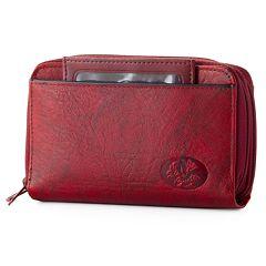 Buxton Organizer Heiress Leather Wallet