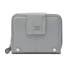 Buxton Westcott Leather Zip-Around Attache Tab Wallet