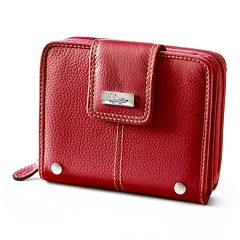 Buxton Westcott Leather Zip-Around Attache Tab Wallet