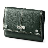 Buxton Westcott Multi-Organizer Fold Over Leather Clutch Wallet