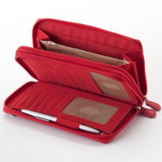 Buxton Double-Zip Crossbody Convertible Wallet