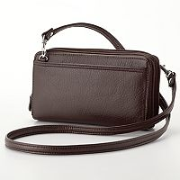 Buxton Double-Zip Crossbody Convertible Wallet