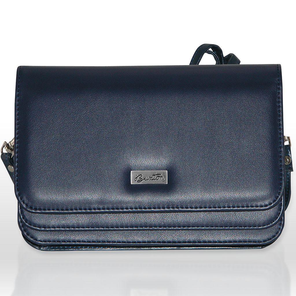 Buxton Double-Flap Convertible Shoulder Bag