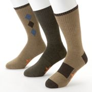 Dockers 3-pk. Argyle Sport Casual Mission Performance Crew Socks