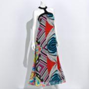 Authentic Icon Swirl Halter Maxi Dress