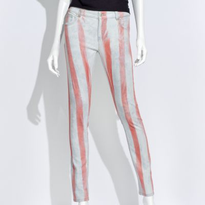 Authentic Icon Striped Skinny Jeans