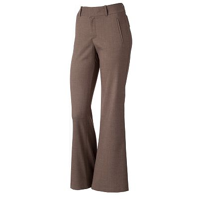 Dockers Herringbone Straight-Leg Trouser Pants - Petite