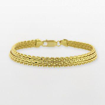 18k Gold Over Silver Riccio Bracelet