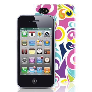 Merkury Innovations iPhone 4/4S Pourpre Hard Cell Phone Case