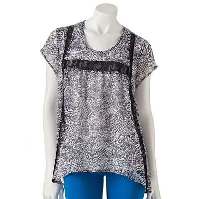 Mudd Lace Shark-Bite Top - Juniors