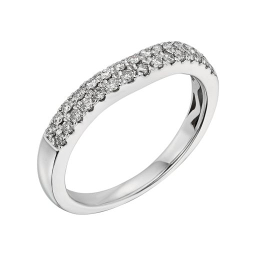 14k White Gold 1/4-ct. T.W. IGL Certified Diamond Wedding Ring