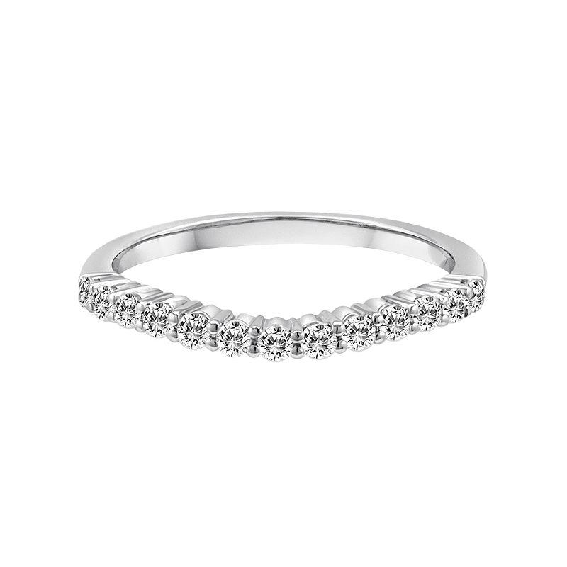14k White Gold 1/3-ct. T.W. IGL Certified Diamond Wedding Ring, Women's, Size: 5.50