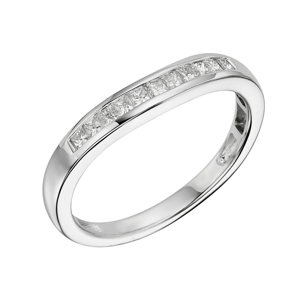 14k White Gold 1/3-ct. T.W. IGL Certified Diamond Wedding Ring