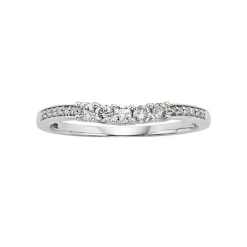 14k White Gold 1/4-ct. T.W. IGL Certified Round Cut Diamond Ring
