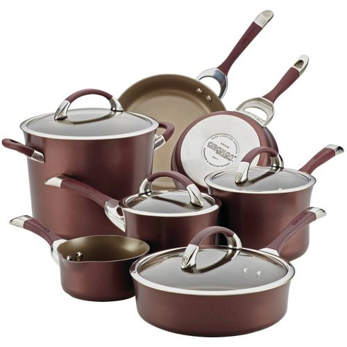 Circulon Chocolate 11-pc. Nonstick Cookware Set