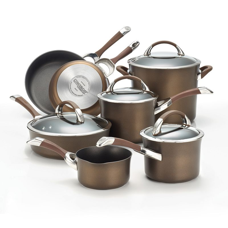 Circulon Chocolate 11-pc. Nonstick Cookware Set (Brown)