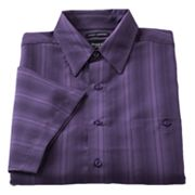 Haggar Work to Weekend Striped Easy-Care Microfiber Casual Button-Down Shirt - Big and Tall