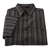 Haggar Work to Weekend Plaid Easy-Care Microfiber Casual Button-Down Shirt - Big and Tall