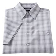Haggar Work to Weekend Checked Easy-Care Microfiber Casual Button-Down Shirt - Big and Tall