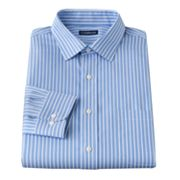 Croft and Barrow Classic-Fit Striped No Iron Spread-Collar Dress Shirt