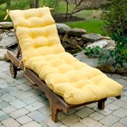 Solid Outdoor Chaise Lounge Chair Cushion