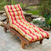 Fiesta Striped Outdoor Chaise Lounge Chair Cushion