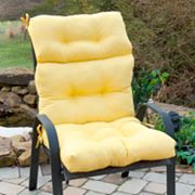 Solid Outdoor High-Back Chair Cushion