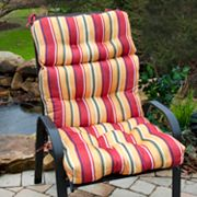 Fiesta Striped Outdoor High-Back Chair Cushion