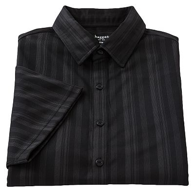 Haggar Striped Easy-Care Work to Weekend Casual Button-Down Shirt - Big and Tall