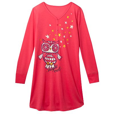 Mudd Night Owl Henley Sleepshirt - Girls 7-16