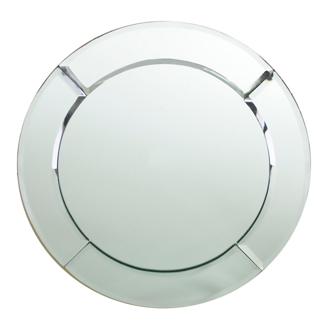 Charge It Round Mirrored Charger Plate