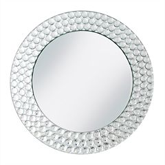 Charge It Beaded Rim Mirrored Charger Plate