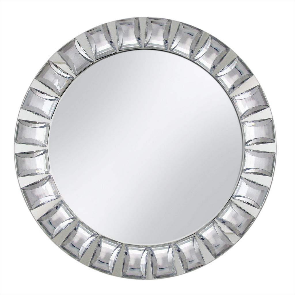 Charge It Large Beaded Rim Mirrored Charger Plate