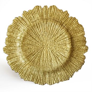 Charge It Reef Gold Charger Plate