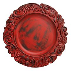Charge It Aristocrat Red Charger Plate