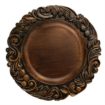 Charge It Aristocrat Brown Charger Plate